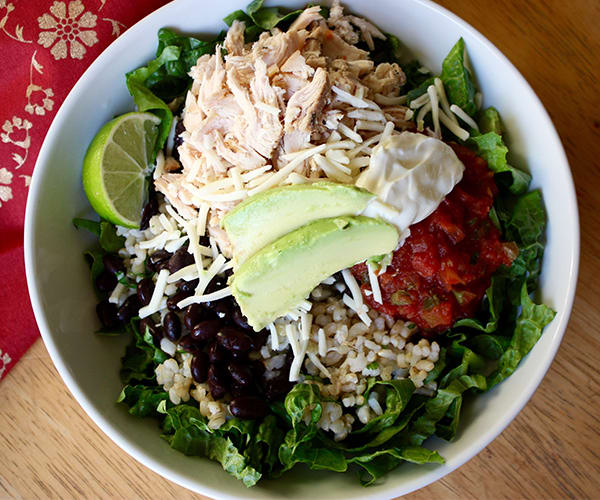 Chicken and Black Bean Burrito Bowl Recipe