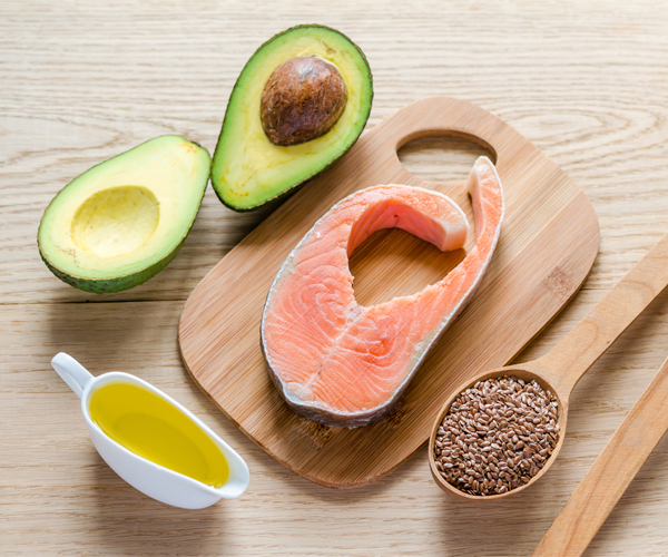 dietary fats- salmon oil avocado