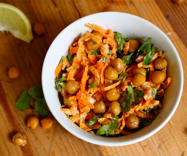 Carrot and Spiced Chickpea Salad
