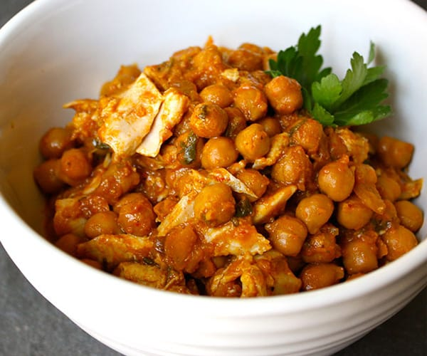 Chickpea Curry with Chicken Recipe