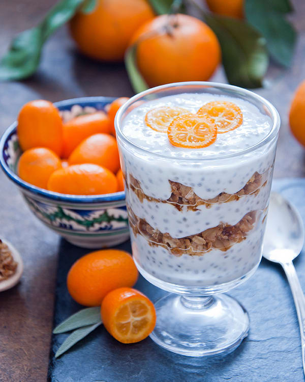 Citrus Chia Pudding Parfait