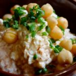 Cottage Cheese and Chickpeas with Chili Powder