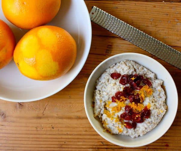 Cranberry Orange Oatmeal