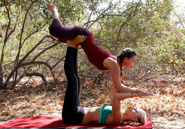 acro yoga pose - butterfly