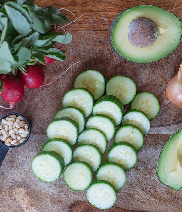 Green Gazpacho With Cucumber and Radishes