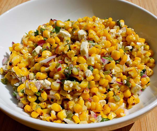 Grilled Corn Salad with Jalapeño