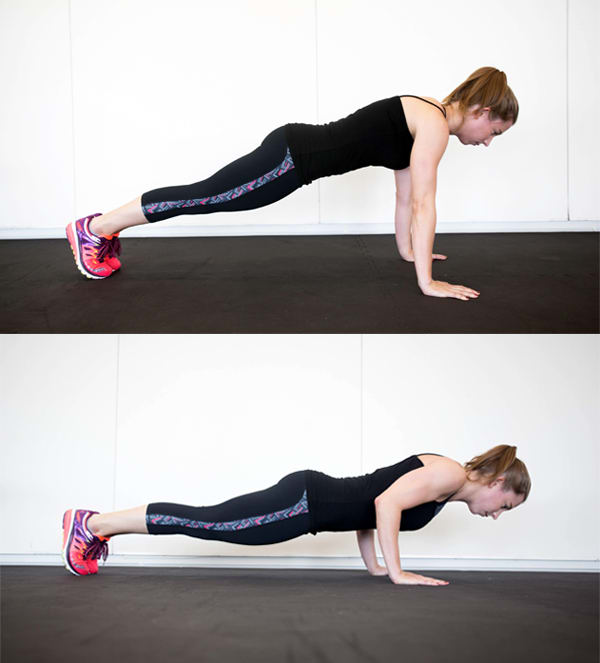 4 Moves That Can Give You Arms Like a Gymnast - Half Push-Up