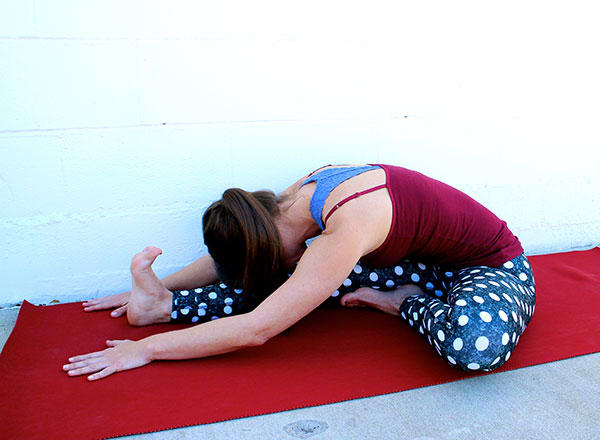 Head To Knee Forward Bend Pose