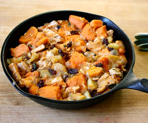 Hearty Chicken, Sweet Potatoes and Apples