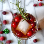 Holiday Cranberry Fizz Cocktail