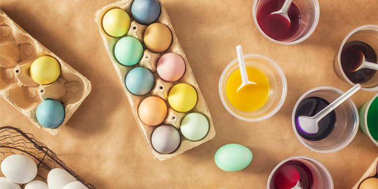 easter treats - dyed eggs