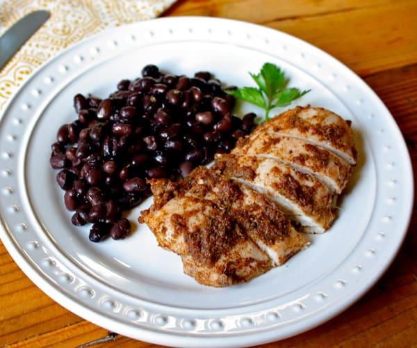 Jerk Chicken with Black Beans
