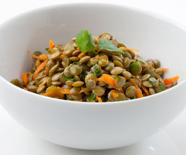 Lentil lime salad with carrots recipe
