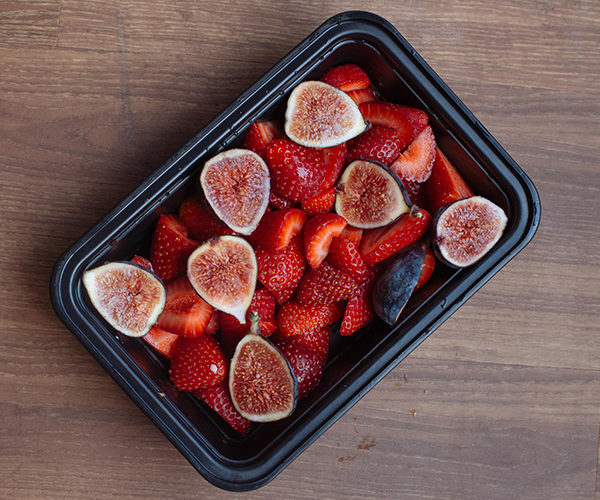 Late Summer Meal Prep for the 1,500-1,800 Calorie Level Snack of Figs and Strawberries