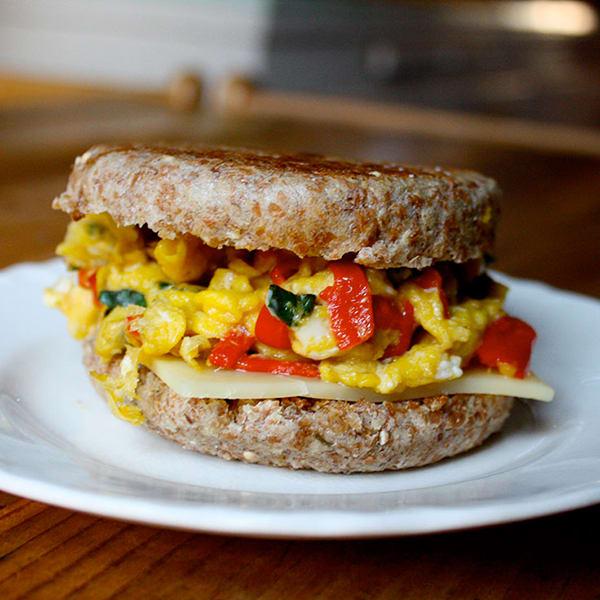 15 Healthy Breakfasts - Mozzarella and Egg Breakfast Sandwich