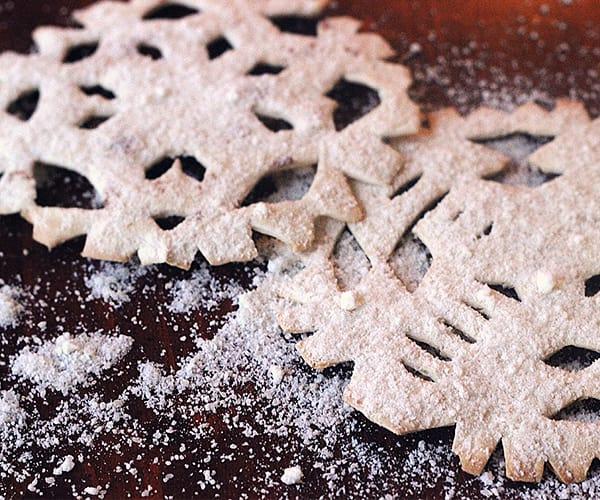 Parmesan Tortilla Snowflakes