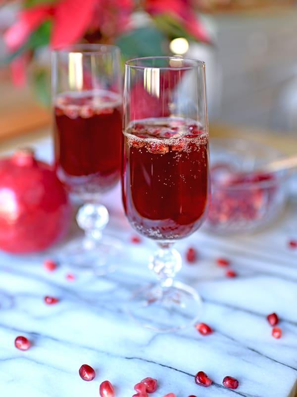 Pomegranate and Prosecco Spritzer