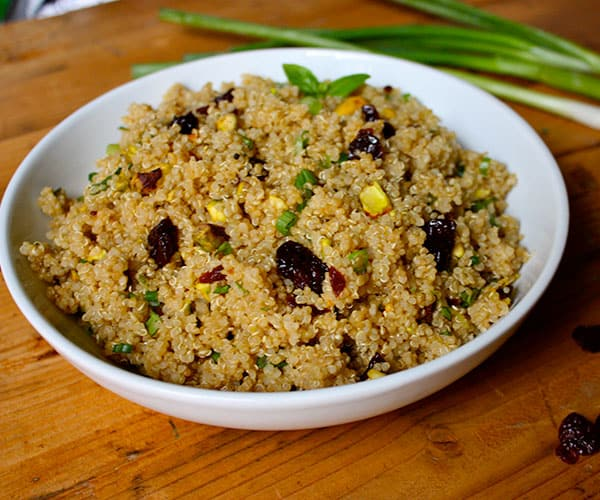 Quinoa with Pistachios and Dried Cherries