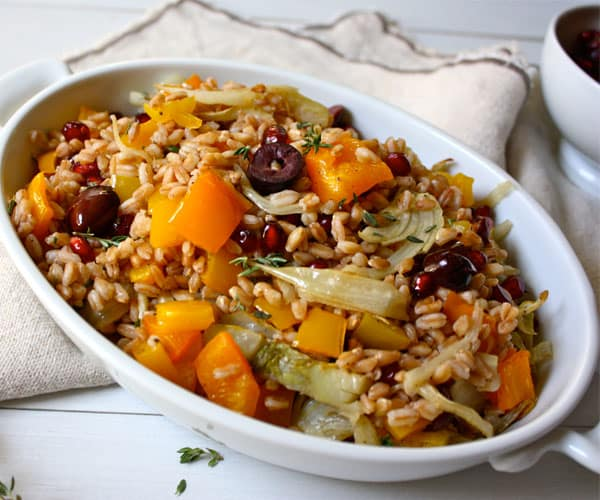 Roasted Fennel and Farro Salad