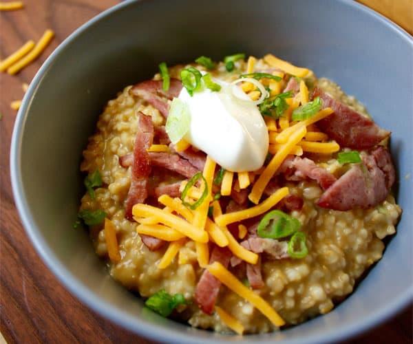 Oatmeal types, savory oatmeal, oatmeal, oats