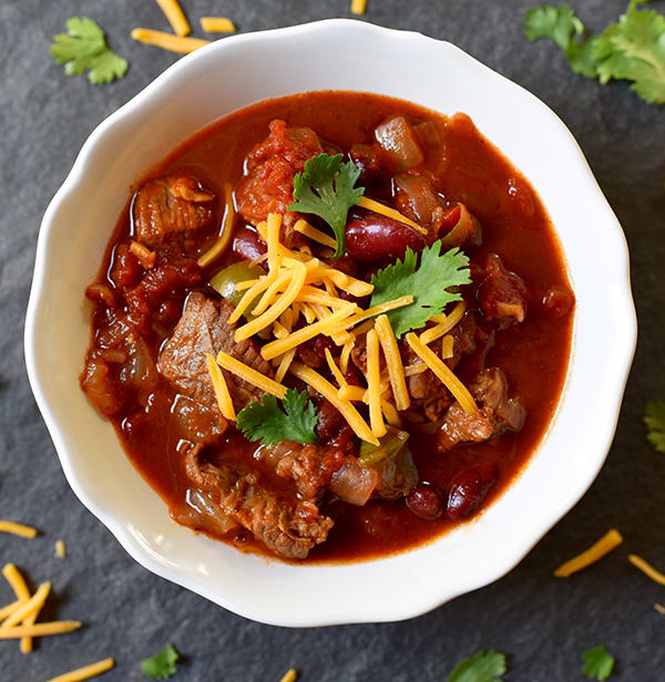 Easy Slow Cooker Recipes: Slow Cooker Beef Chili