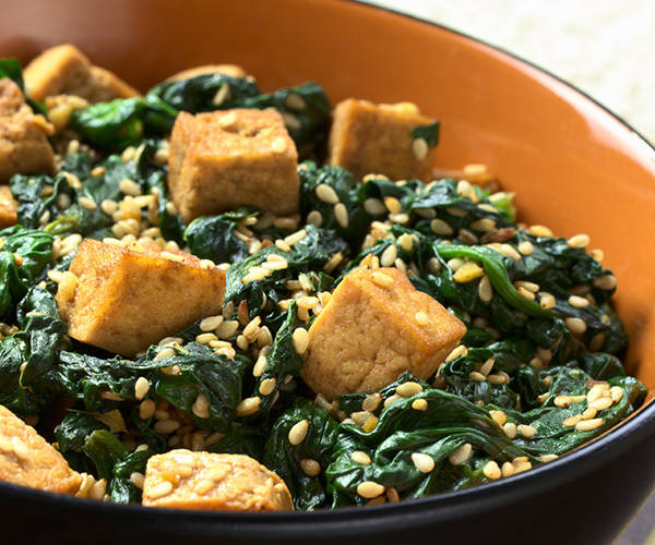 Spinach and Tofu Stir-Fry