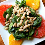 Spinach and White Bean Salad with Oranges and Grapefruit