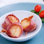 Crispy on the outside and tender on the inside, these Turkey Bacon Wrapped Scallops feature tender scallops and nitrite-free turkey bacon.