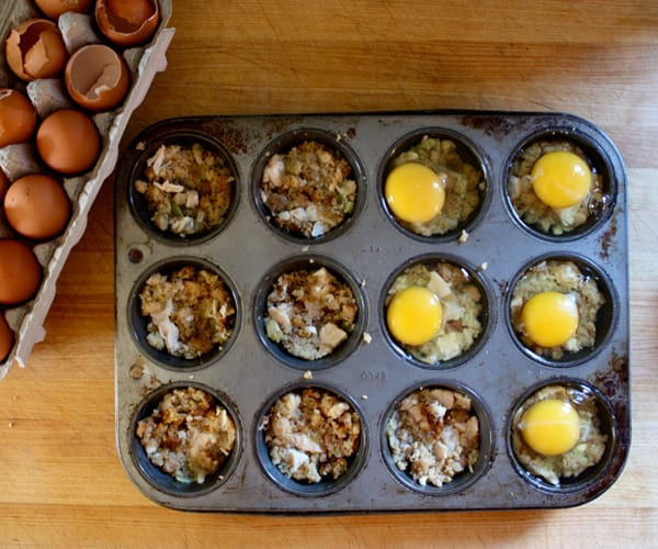 Turkey and Stuffing Egg Cups