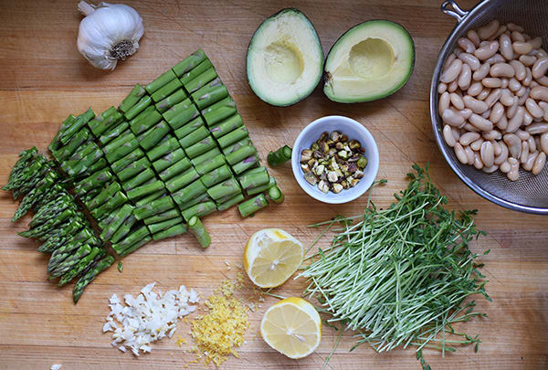 Warm Asparagus and White Bean Salad
