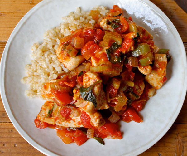 Zesty Chicken with Brown Rice