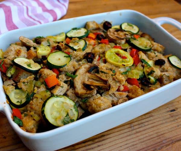 Zucchini Stuffing With Mushrooms and Garlic