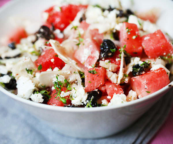 Watermelon Recipes: watermelon feta salad