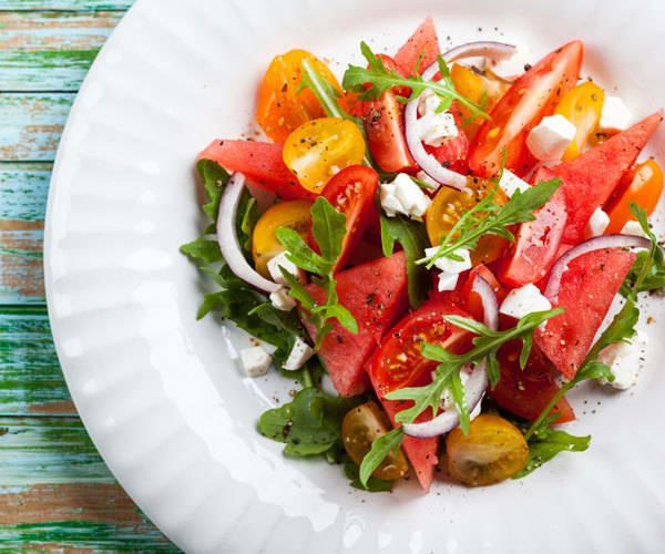 Watermelon Recipes: watermelon tomato salad