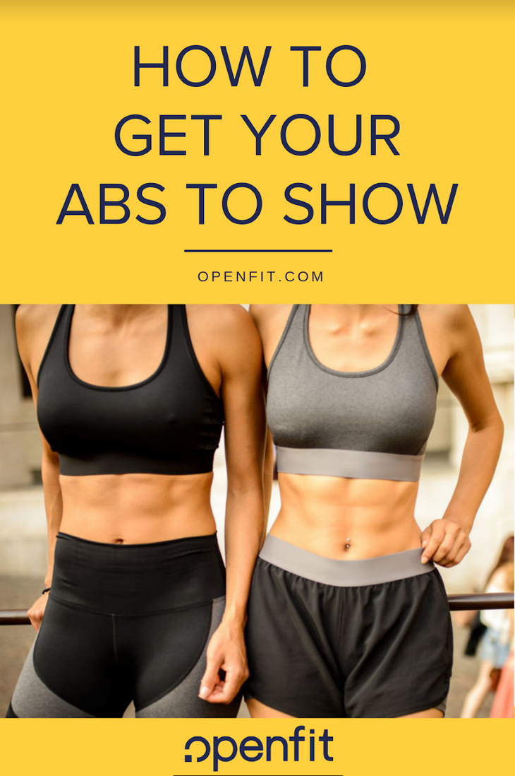 How to Get Your Abs to Show - two women with abs