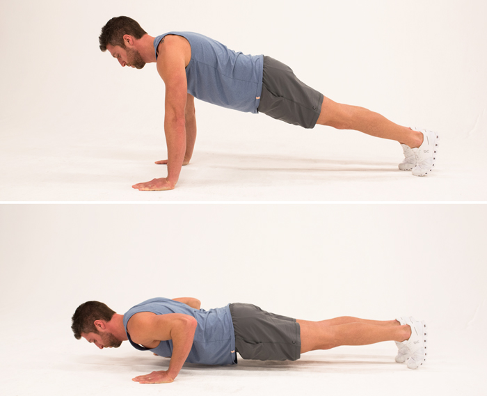 bodyweight exercises for chest - push up
