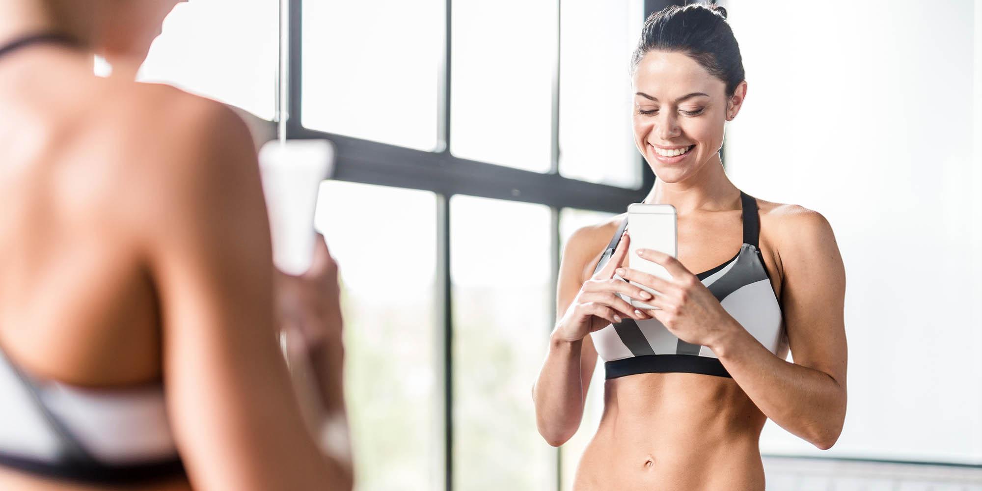 accountability - taking gym selfie