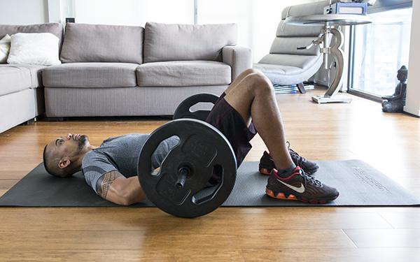 5 of the Best Leg Exercises That Aren't Leg Press barbell glute bridge