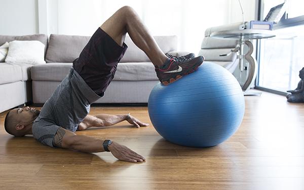 5 of the Best Leg Exercises That Aren't Leg Press swiss ball leg curl