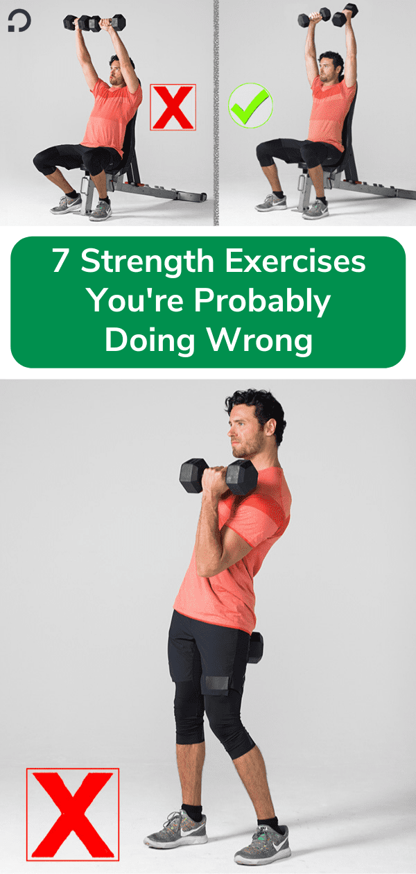 strength training exercises - pin image