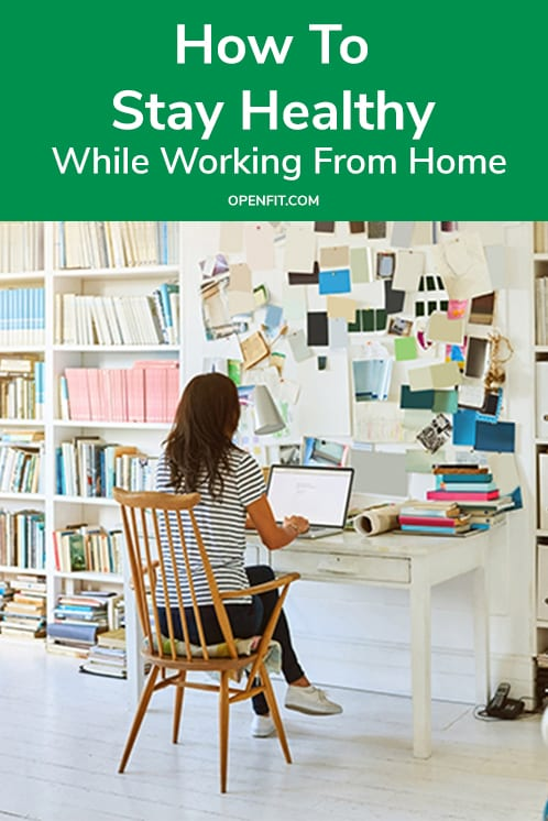 healthy work from home pin image