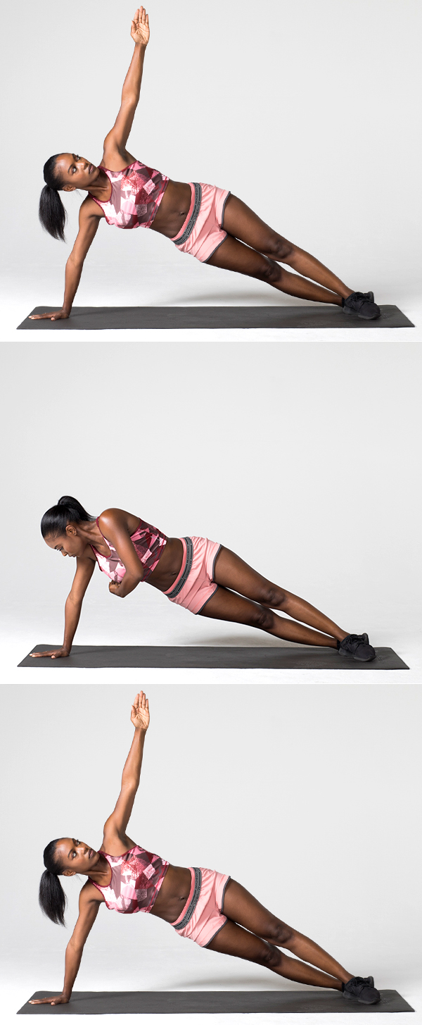 7 of the Best Oblique Exercises for a Strong Core side plank reach