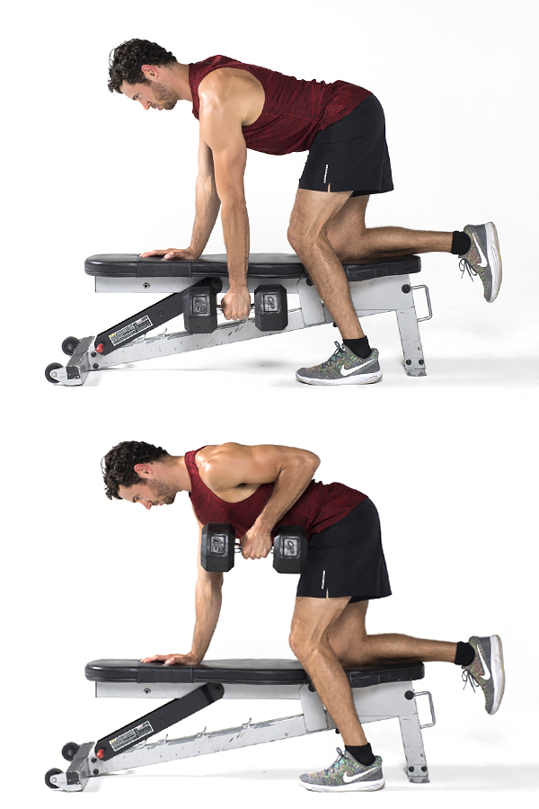 One arm row - Strength training workouts