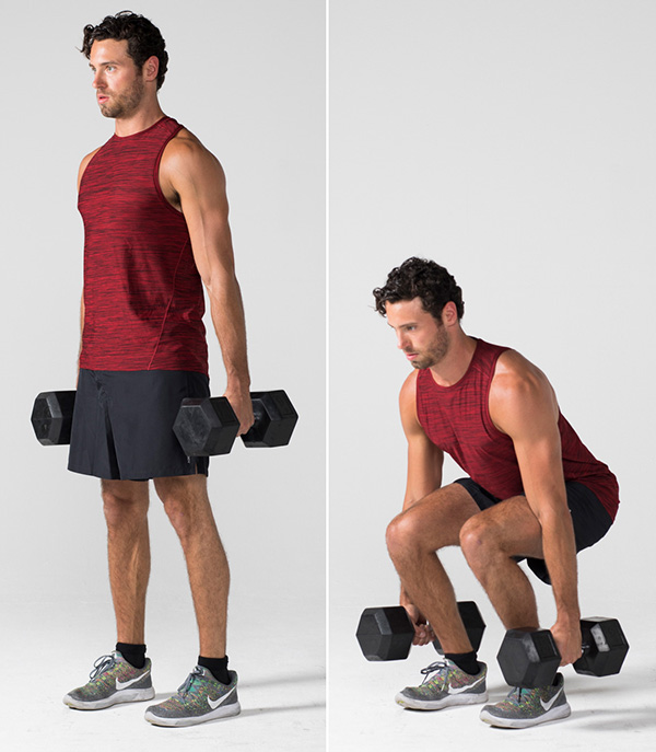 Gluteus Medius Exercises - Dumbbell Squat