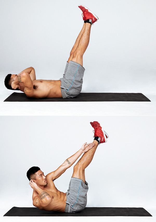 7 of the Best Oblique Exercises for a Strong Core cross crunch