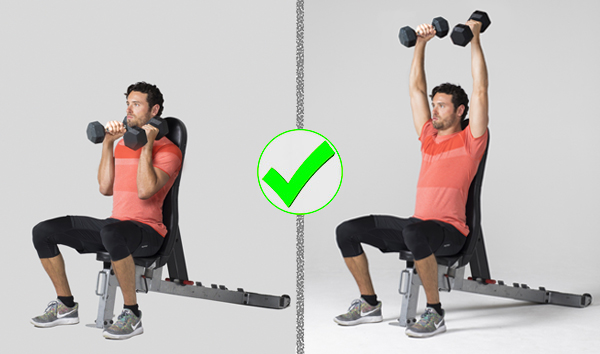 common exercises- overhead dumbbell press