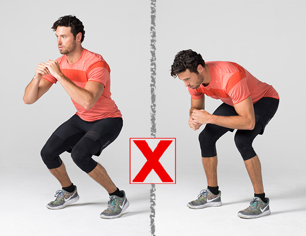 7 Common Exercises People Usually Do Wrong And How to Correct Them squat wrong