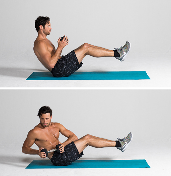 lower ab workouts -boat twist