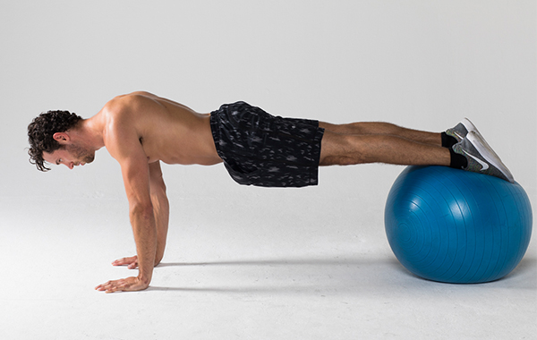 Best Ab Exercises - Feet-Elevated Stability Ball Plank