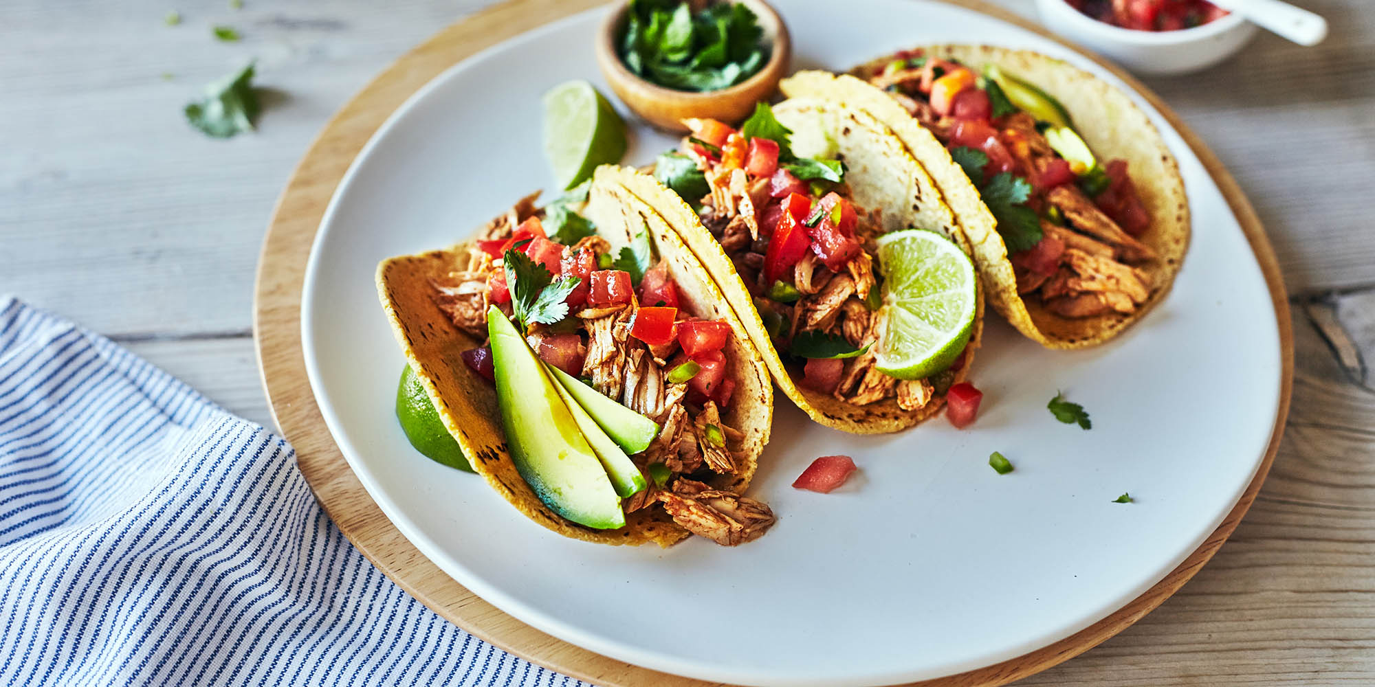crockpot chicken tacos with corn